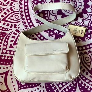 NWT Vanilla Leather Fossil Purse